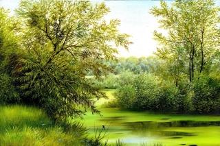 Nature, Painting, Canvas - Obrázkek zdarma pro Nokia XL