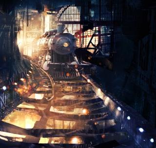Tunnel Train - Obrázkek zdarma pro 1024x1024
