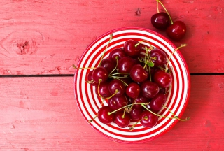 Free Cherry Plate Picture for Android, iPhone and iPad
