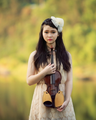 Girl With Violin - Obrázkek zdarma pro iPhone 6