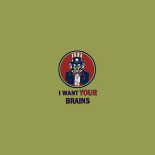 I Want Your Brains - Obrázkek zdarma pro 128x128