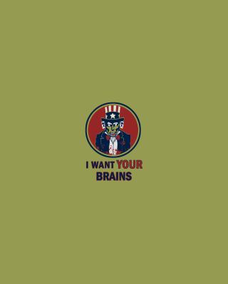 I Want Your Brains - Obrázkek zdarma pro iPhone 4