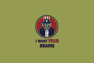 I Want Your Brains - Obrázkek zdarma pro LG P500 Optimus One