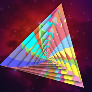 Colorful Triangle - Obrázkek zdarma pro iPad 2