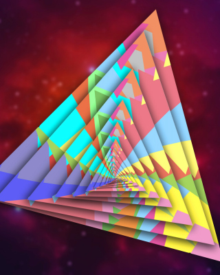 Colorful Triangle - Obrázkek zdarma pro Nokia Asha 309