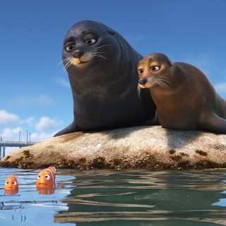 Finding Dory with Fish and Seal - Obrázkek zdarma pro iPad mini 2