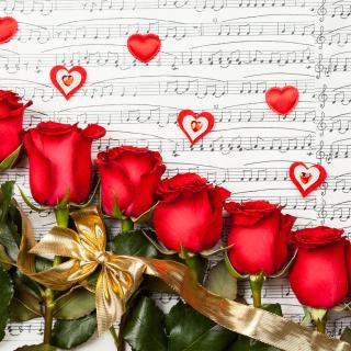 Roses, Love And Music - Obrázkek zdarma pro iPad 2