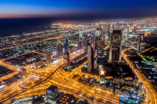 Dubai Night Tour Background for Android, iPhone and iPad