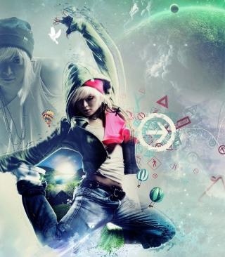 Girl Dancer - Obrázkek zdarma pro 360x480