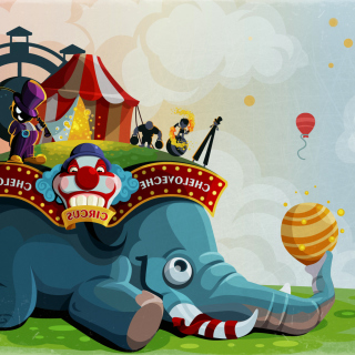 Circus with Elephant - Obrázkek zdarma pro iPad mini