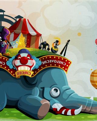 Circus with Elephant - Obrázkek zdarma pro iPhone 5C