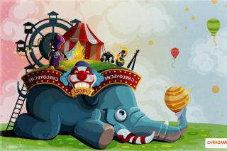 Circus with Elephant - Obrázkek zdarma pro Samsung Galaxy Q