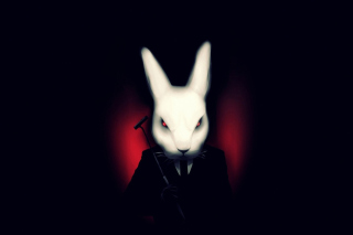 Evil Rabbit Background for Android, iPhone and iPad