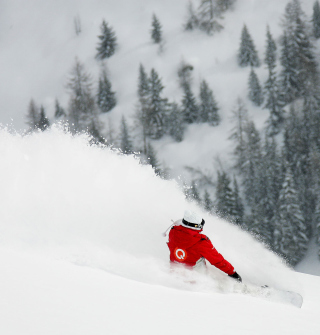 Winter Olympics Snowboarder - Obrázkek zdarma pro 1024x1024