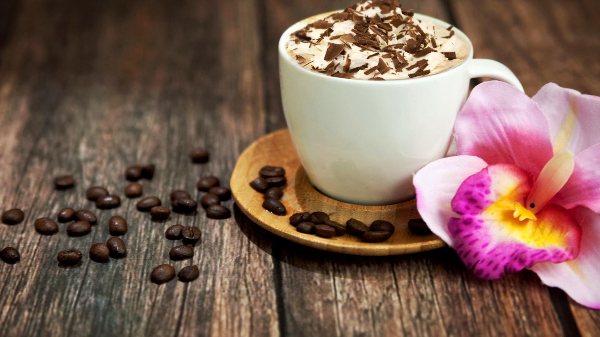 1920x1080 creative coffee flower - photo #40