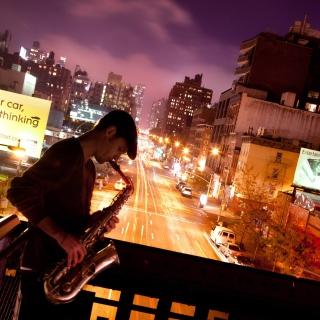 Jazz and Saxophone Player - Obrázkek zdarma pro iPad mini