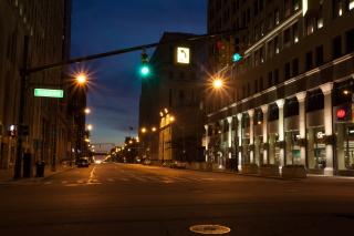 USA Roads Detroit Michigan Night Street Cities - Fondos de pantalla gratis para Widescreen Desktop PC 1920x1080 Full HD