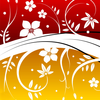 Vector Flowers ClipArt - Obrázkek zdarma pro iPad mini 2