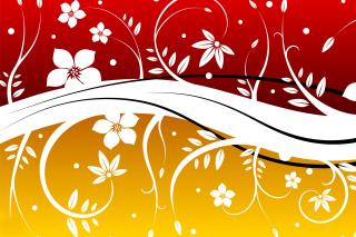 Vector Flowers ClipArt - Obrázkek zdarma pro 720x320