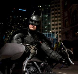 Batman on Batpod - Obrázkek zdarma pro 1024x1024