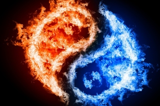 Free Yin and yang, fire and water Picture for Android, iPhone and iPad