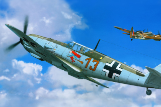 Messerschmitt Bf 109E Background for Android, iPhone and iPad