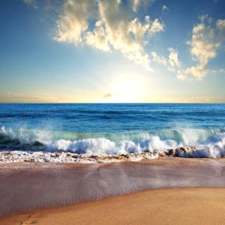 Beach and Waves - Obrázkek zdarma pro 208x208