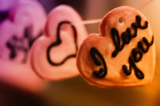 Free I Love You Cookie Picture for Android, iPhone and iPad