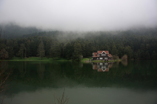 House On Lake In Turkey Wallpaper for Android, iPhone and iPad