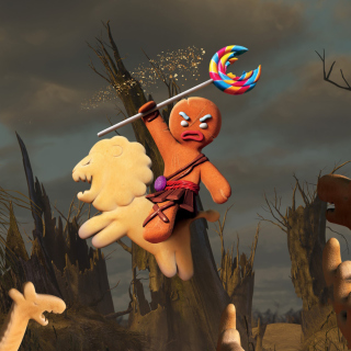 Gingerbread Man - Obrázkek zdarma pro 208x208
