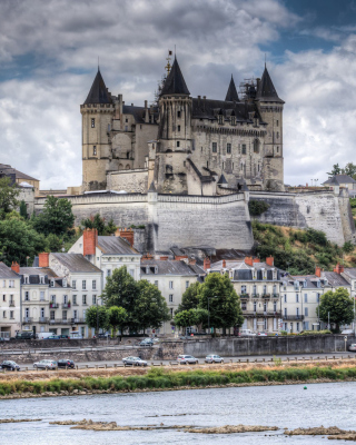 Saumur Castle on Loire - Obrázkek zdarma pro 640x960