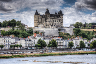 Saumur Castle on Loire Picture for Android, iPhone and iPad