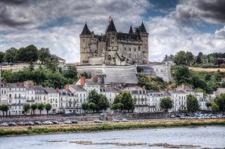 Saumur Castle on Loire - Obrázkek zdarma pro Nokia Asha 205