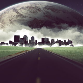 Metropolis on horizon - Obrázkek zdarma pro iPad 2