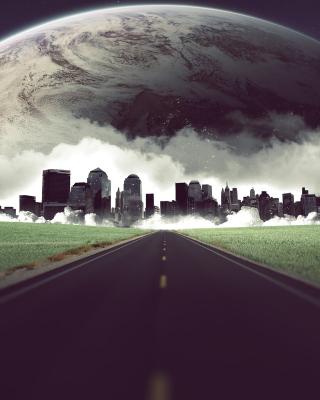 Metropolis on horizon - Obrázkek zdarma pro Nokia Asha 202