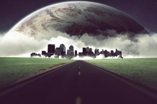 Metropolis on horizon - Obrázkek zdarma pro Samsung Galaxy Note 4