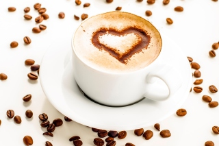 Free Cappuccino Heart Picture for Android, iPhone and iPad