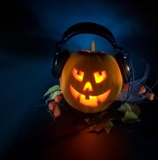Pumpkin In Headphones - Obrázkek zdarma pro 1024x1024