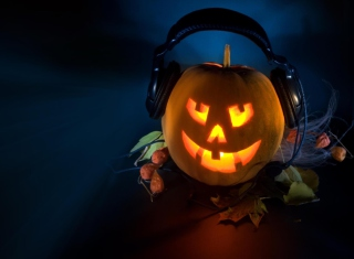 Pumpkin In Headphones - Obrázkek zdarma pro Widescreen Desktop PC 1920x1080 Full HD