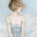 Screenshot №1 pro téma Pastel Tones Drawing Of Girl 128x128