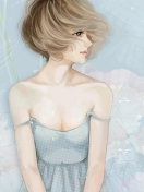 Screenshot №1 pro téma Pastel Tones Drawing Of Girl 132x176