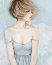 Screenshot №1 pro téma Pastel Tones Drawing Of Girl 176x220
