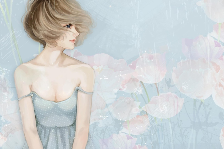 Screenshot №1 pro téma Pastel Tones Drawing Of Girl