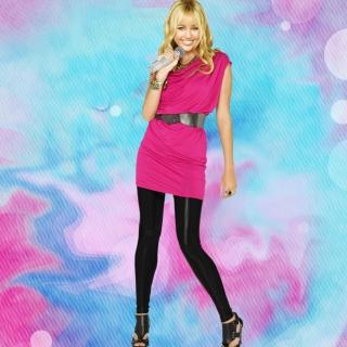 Miley Cyrus Singing - Obrázkek zdarma pro 1024x1024