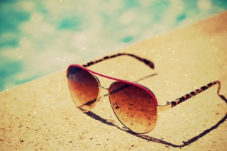 Sunglasses By Pool Wallpaper for Android, iPhone and iPad