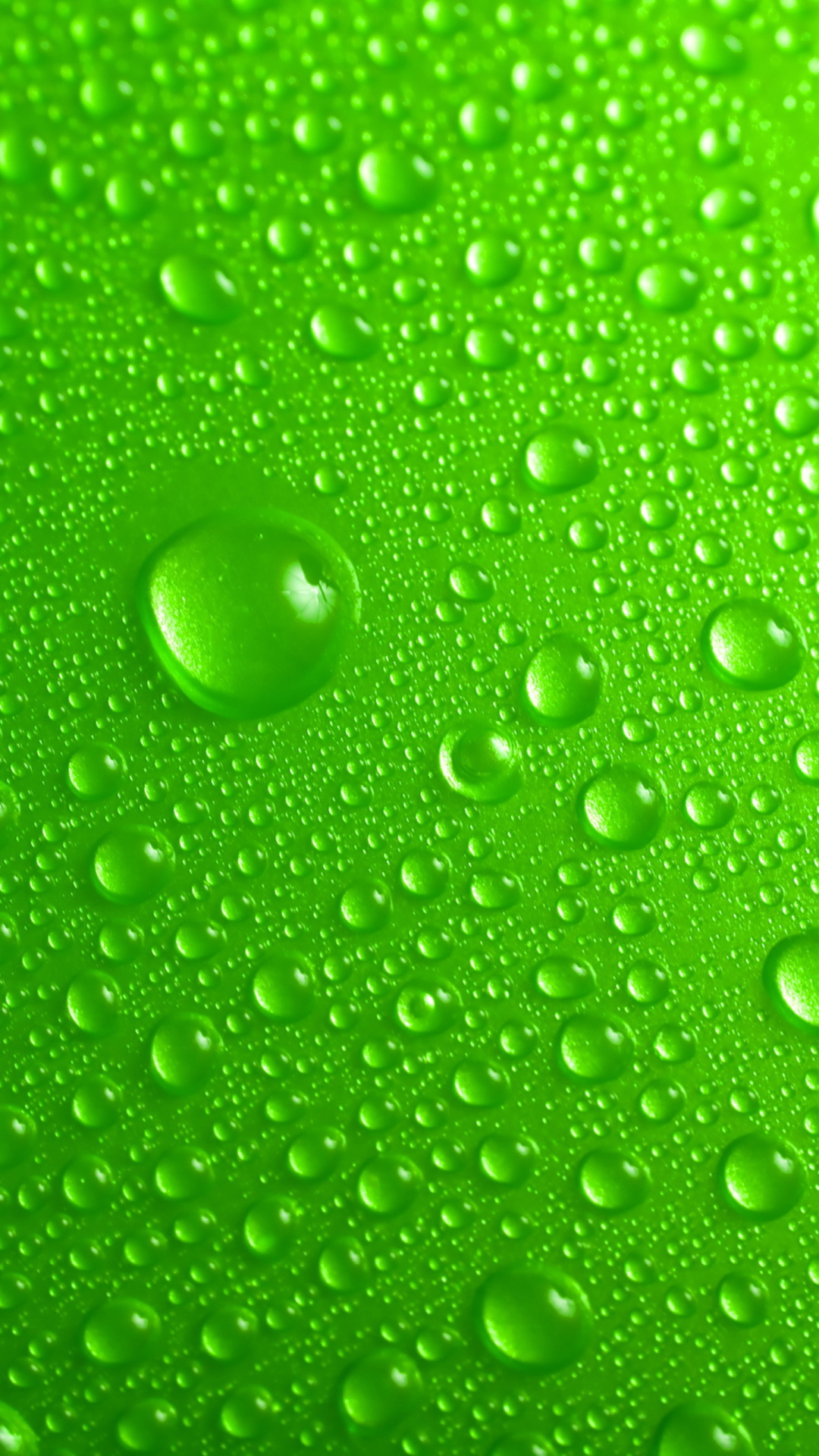Green Water Drops Wallpaper for 1080x1920