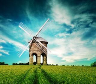 Old Mill In Field - Obrázkek zdarma pro 128x128