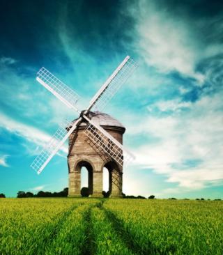 Old Mill In Field - Obrázkek zdarma pro 240x432