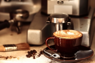 Coffee Machine for Cappuccino sfondi gratuiti per cellulari Android, iPhone, iPad e desktop