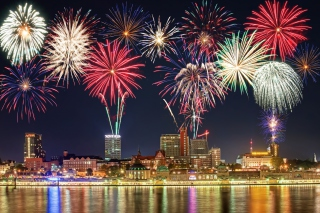 New Year Fireworks Wallpaper for Android, iPhone and iPad